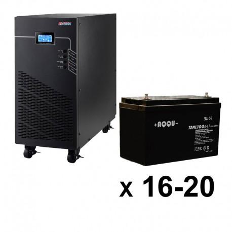 ИБП 3ф/3ф (20/100Ач) до 9 кВт - от 1 часа 35 мин автономии