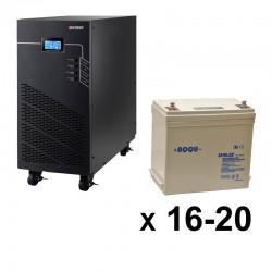ИБП 3ф/3ф (20/55Ач) до 18 кВт - от 16 мин автономии